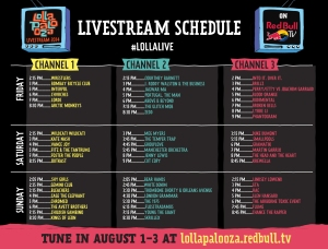 Horarios de livestream del festival Lollapalooza por Red Bull TV