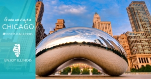 Una de las atracciones más representativas de Chicago es el Cloud Gate, mejor conocido como ¨El Frijol¨.