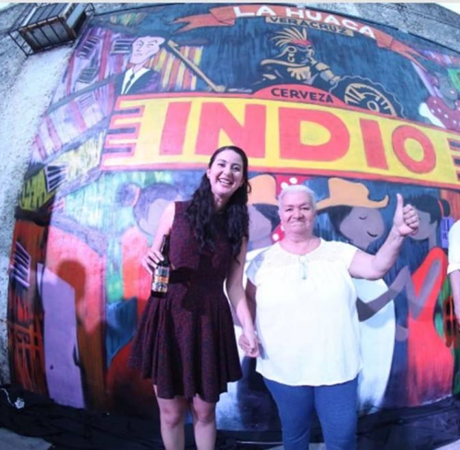 Plasma INDIO® el lado más auténtico de La Huaca en un mural
